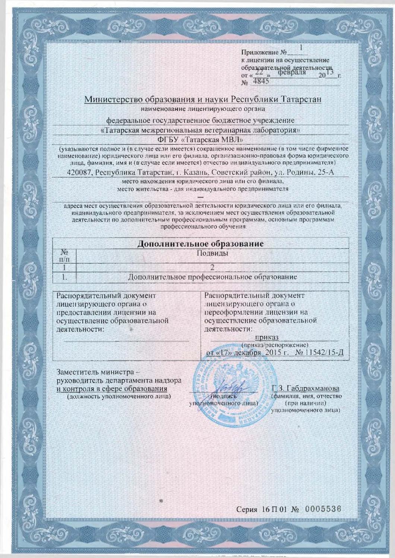 Лицензия на ветеринарную деятельность